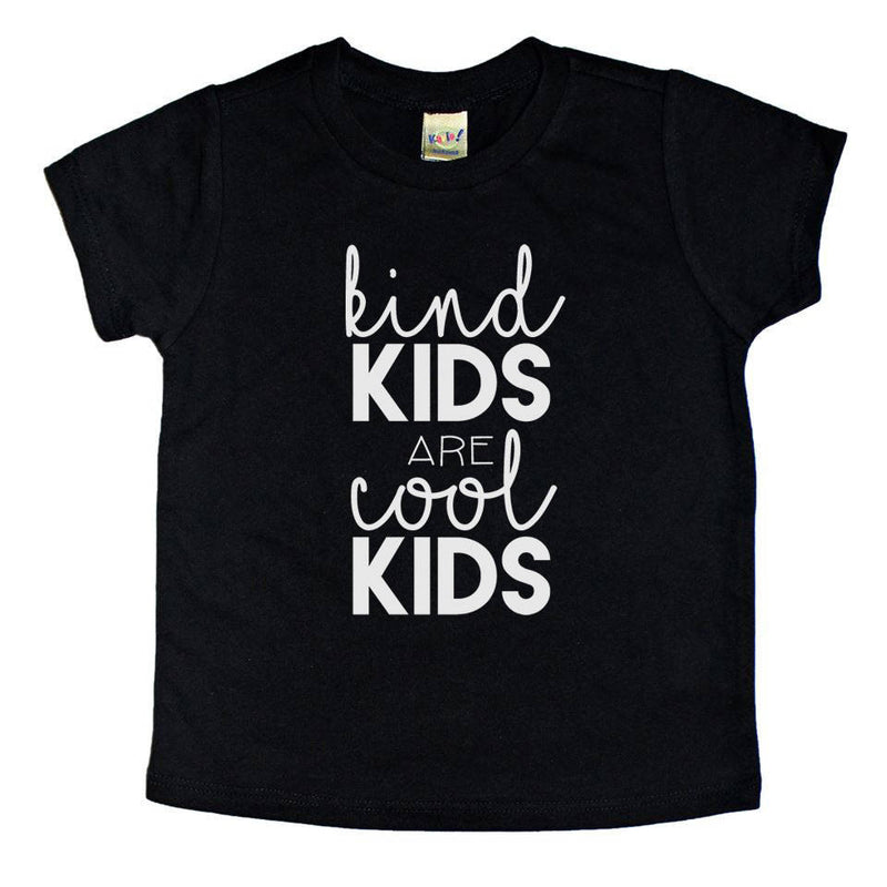 kind kids are cool kids kindness week monochrome trendy kids graphic tshirt