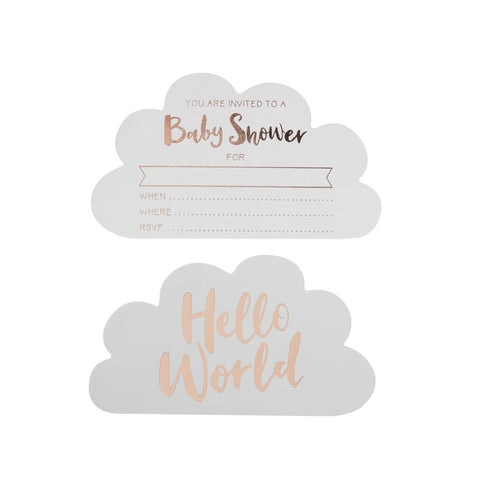 Rose Gold Baby Shower invites