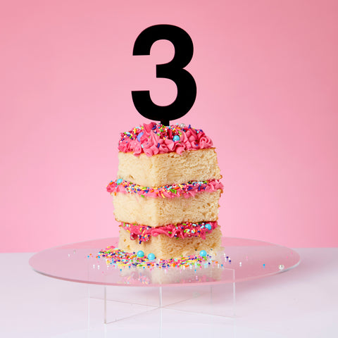 Black Perspex Cake Topper - More numbers available