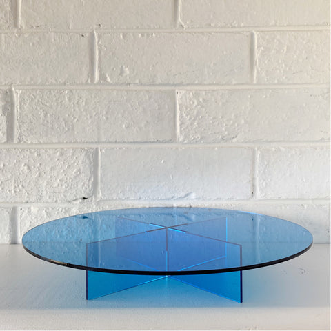 Blue Acrylic Cake Stand
