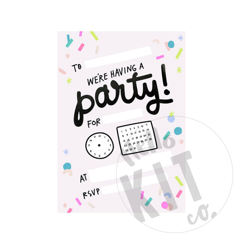 Confetti Party Invite - (Digital Download)