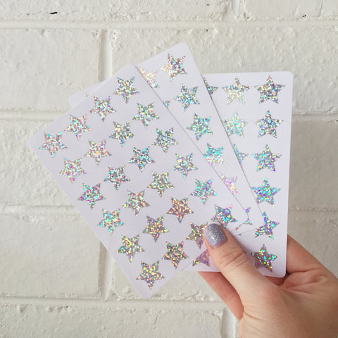 Holographic Star Stickers (72)