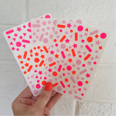 Confetti Stickers - Pinks