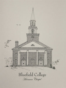 Bluefield College Harman Chapel note cards  (c) 2019 Robert E Duff Sr