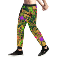 90s Color Splash Men's All Over Print Sweatpants
