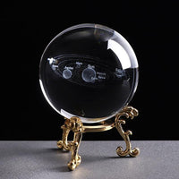 Inspire Uplift 6 CM / with gold base Engraved Solar System Sphere