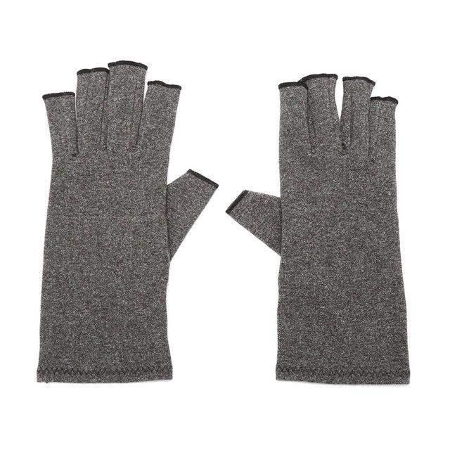 Inspire Uplift Arthritis Compression Fingerless Gloves Gray / L Arthritis Compression Fingerless Gloves