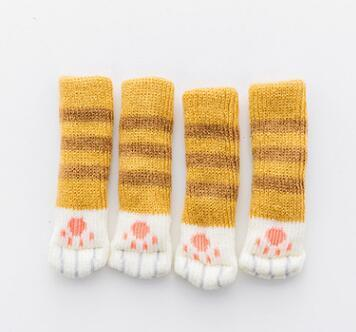 Inspire Uplift Brown strip Kitty Paw Chair Socks