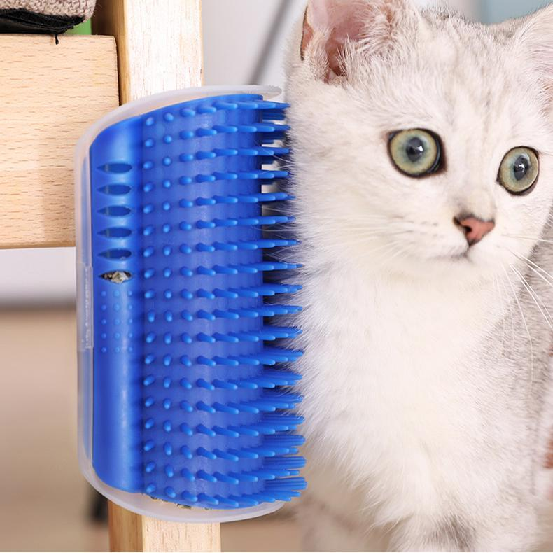 Inspire Uplift Cat Self Groomer Brush Blue Cat Self Groomer Brush