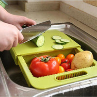 Inspire Uplift Cut & Drain Chopping Board Green Cut & Drain Chopping Board