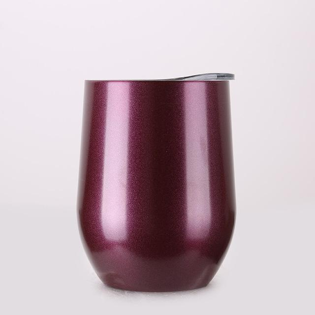 Inspire Uplift DrinkUp Portable Insulated Wine Cup Chrome Burgundy / 9oz DrinkUp Portable Insulated Wine Cup