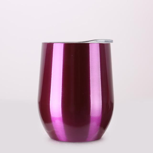 Inspire Uplift DrinkUp Portable Insulated Wine Cup Chrome Purple / 9oz DrinkUp Portable Insulated Wine Cup