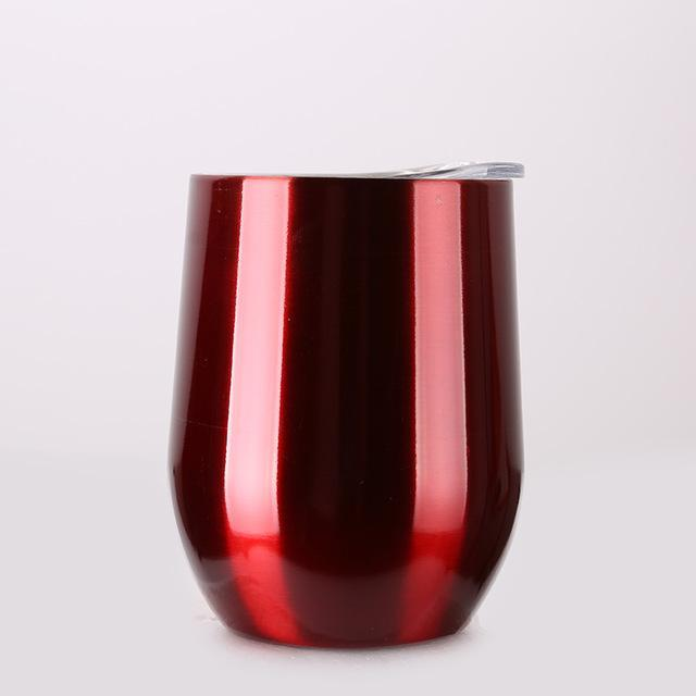 Inspire Uplift DrinkUp Portable Insulated Wine Cup Chrome Red / 9oz DrinkUp Portable Insulated Wine Cup