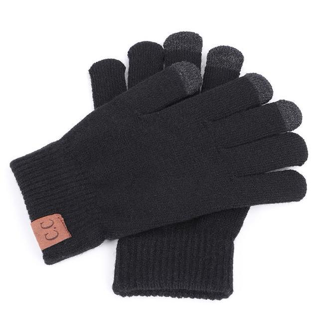 Inspire Uplift Knitted Texting Gloves Black Knitted Texting Gloves