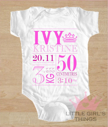 Birth Announcement - Hot Pink and Pink