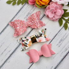 Ella, Taylor and Olivia Bow Set - Apricot