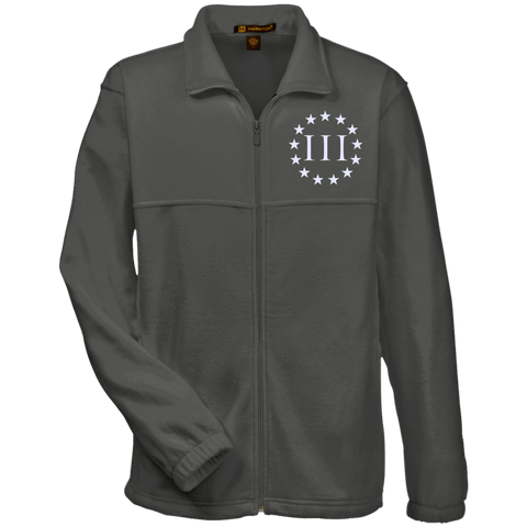 Three Percent III. Surrounded by Stars. Harriton Fleece Full-Zip. (Embroidered)