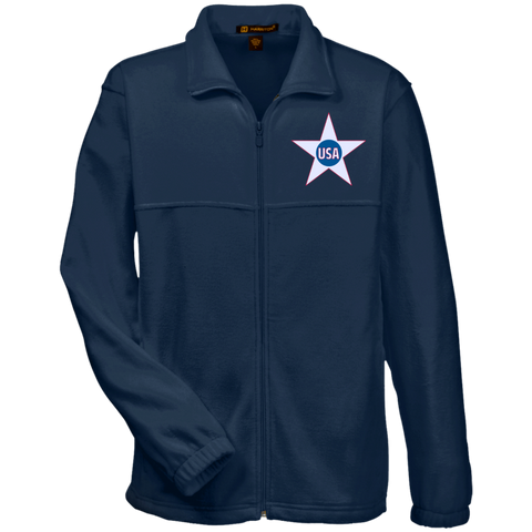 USA. Inside Star. Red, White and Blue. Harriton Fleece Full-Zip. (Embroidered)