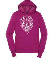 Pew Pew. Girls with Guns. Gun Chick. Women's: Sport-Tek Ladies Pullover Hooded Sweatshirt.