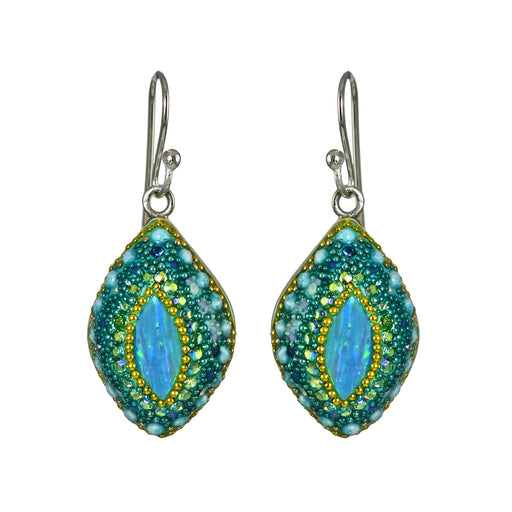 Allegra Aqua Daisy Earrings
