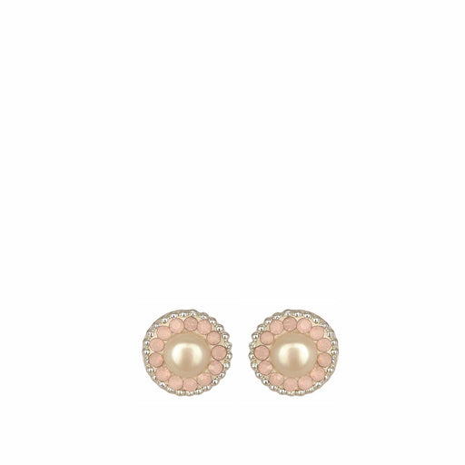 Allegra Pearl Pink Stud Earrings