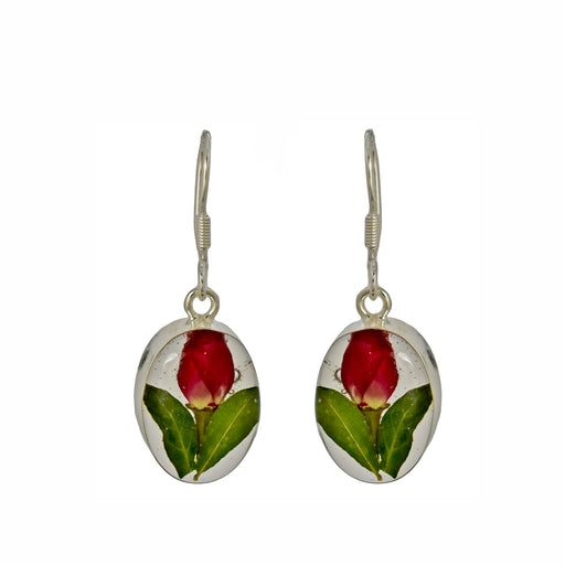 Flores Rosebud Oval Drop Earrings