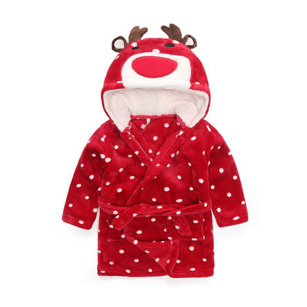Red Elk babies and kids bathrobes - Just Kidding