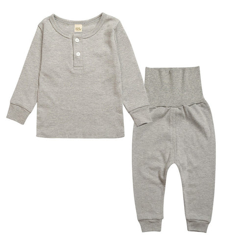 Sleepwear Set - Kids Pajamas - Gray - Just Kidding Store