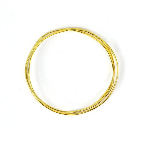 Wave Vermeil 3 Tier Bangle-Bracelets-FRAN REGAN JEWELLERY-JewelStreet