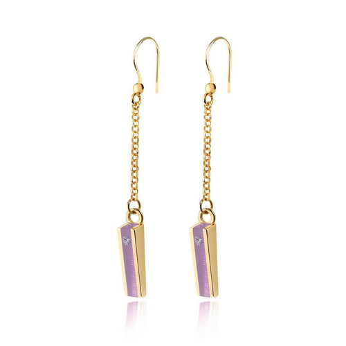 Gold Vermeil Willow Earrings With Wisteria Resin ,[product vendor],JewelStreet