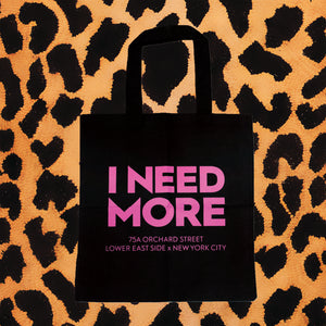 I NEED MORE TOTE BAG (BLK/PNK)