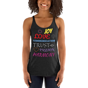 Words To Live By Woman's Racerback Tank ByJackson