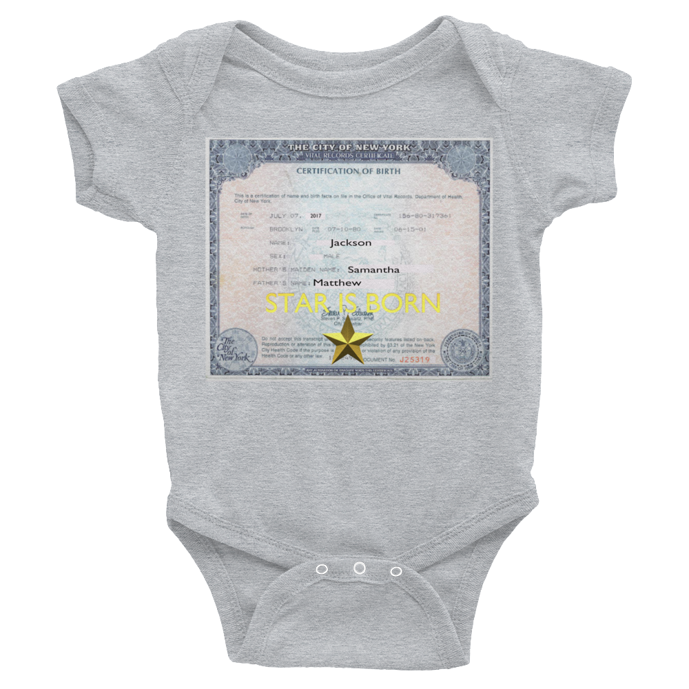 STAR IS BORN Baby Bodysuit ByJackson - ByJackson