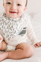 Loulou Lollipop Bandana Bib Set - Blushing Protea