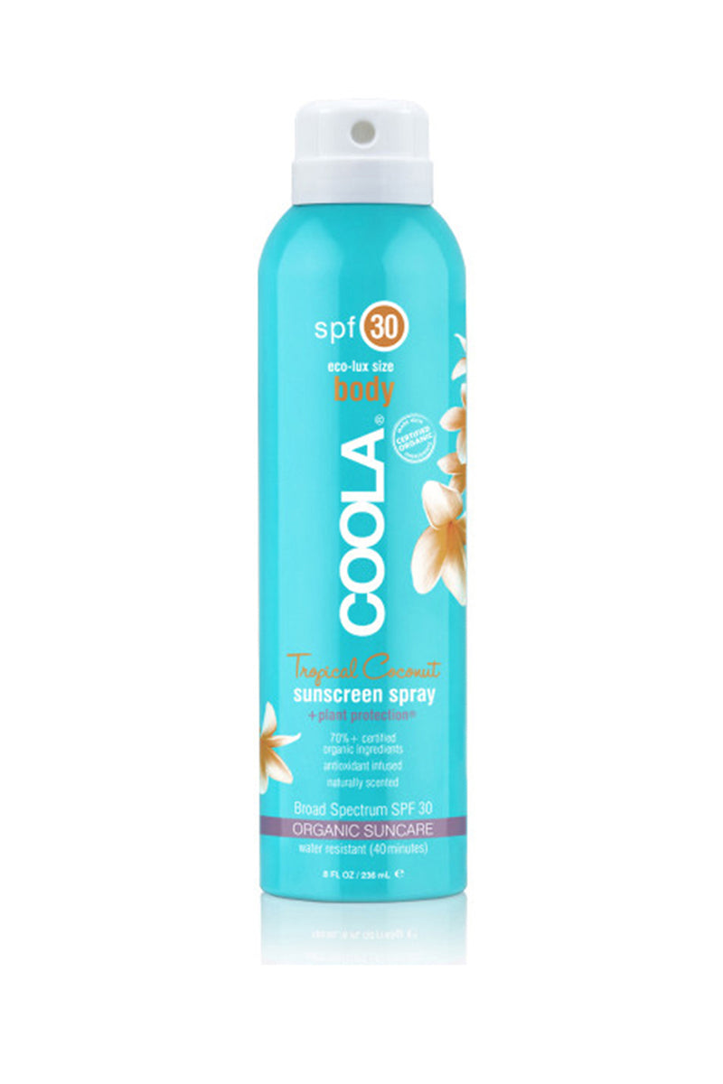 Classic Body Organic Sunscreen Spray SPF 30 - Tropical Coconut