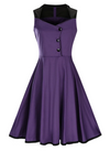 Vintage Style Dress vintage Purple and Black Plus size Vintage dress plus size Flattering Plus Size Style Buy Fashion Australia Alt finery 1950s Vintage Style Dress