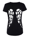 fitted t shirt buy fashion Australia Black T shirt wings cut out angel Angel wing cut out t-Shirt Alt finery
