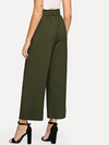 Belted Wide Leg Pants • Army Green