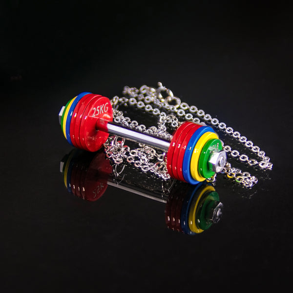 Competition Coloured Barbell Necklace