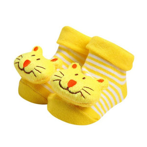 Wholesale Baby Socks Anti-Slip Cotton Newborn Infantil Baby Sock Cartoon Animal Slippers Boots Unisex Boy Girl Socks Rubber Sole