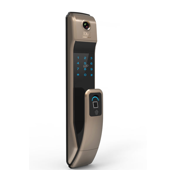 Smart wifi fingerprint digital door lock Model#323A-Brown