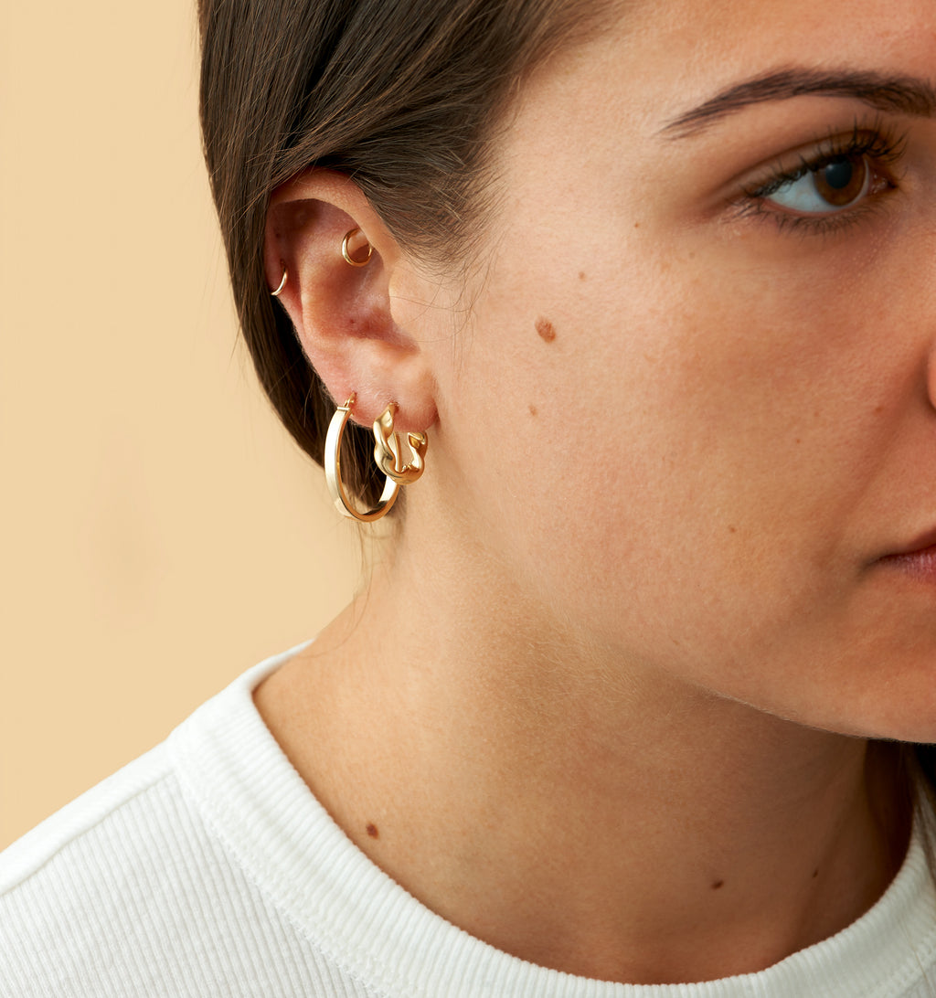 Modern Oval Hoops - Small