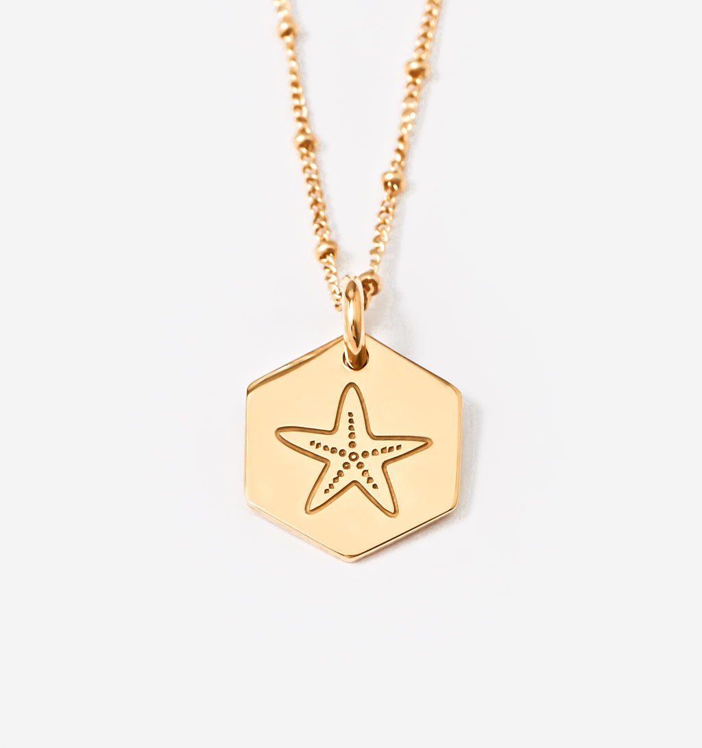 Starfish Hexagon Pendant