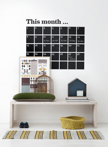 this month wall calendar sticker