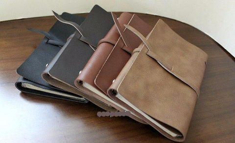 A5 Loose-leaf Handmade Genuine Leather Notebook