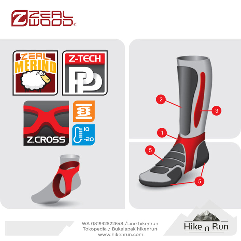 ZW Z-Cross T2 Grey-Black 161785Z038 - Hike n Run