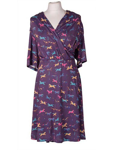 Dahlia Purple Horse Print Dress by Lindy Bop