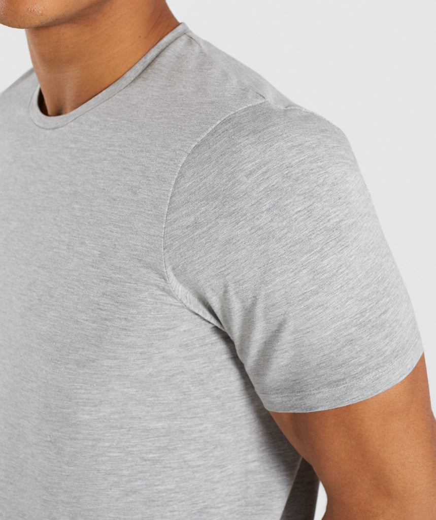 Gymshark Mirror T-Shirt - Light Grey Marl 5