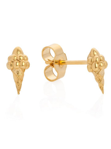 Miami Ice Cream Stud earrings - Gold - IndependentBoutique.com