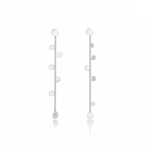 Stardust Sterling Silver Drop Earrings